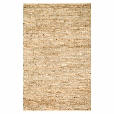 Kirkley Hand-Woven Ivory Area Rug Rug Size: Rectangle 36 x 56