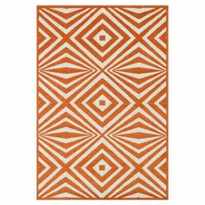 Catalina Orange/Ivory Indoor/Outdoor Area Rug Rug Size: Rectangle 311 x 510