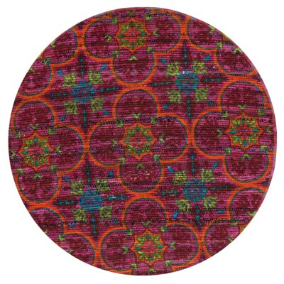Aria Berry Area Rug Rug Size: Round 3