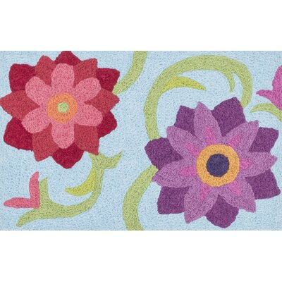 Jiles Light Blue Area Rug