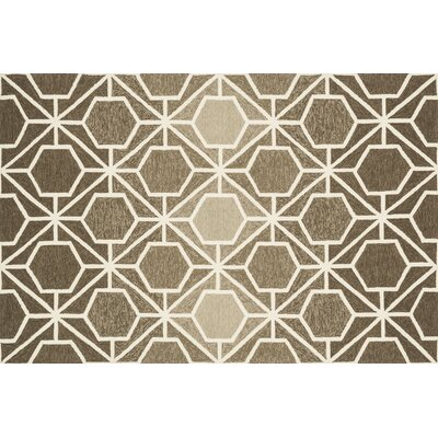 Venice Beach Brown/Beige Area Rug Rug Size: 36 x 56