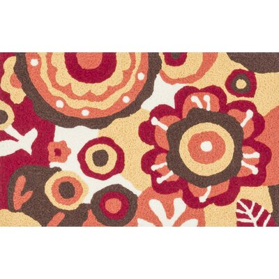 Jiles Red/Yellow Area Rug