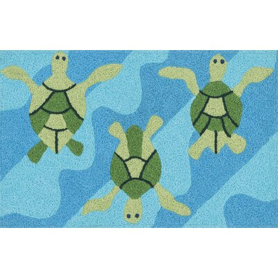 Angelou Ocean/Green Area Rug