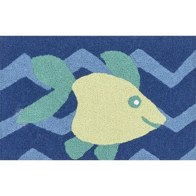 Angelou Blue/Yellow Area Rug