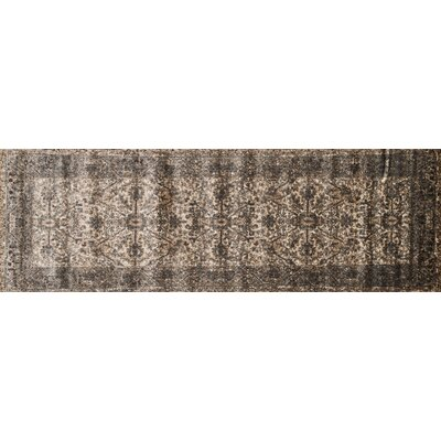 Elton Bronze/Slate Area Rug Rug Size: Runner 26 x 77