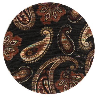 Aria Chocolate/Rust Area Rug Rug Size: Round 3