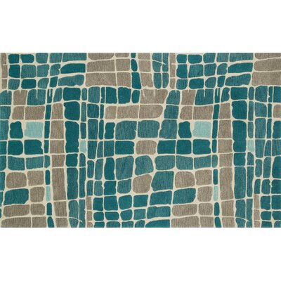 Earnhart Teal/Gray Area Rug Rug Size: Rectangle 5 x 76
