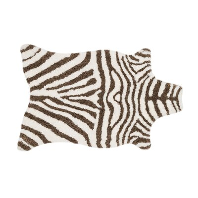 Zebra Stripe Brown Area Rug Rug Size: Rectangle 5 x 76