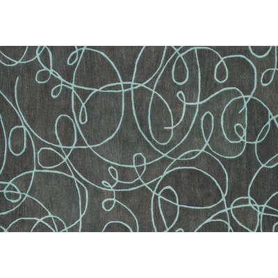 Earnhart Gray/Mist Area Rug Rug Size: Rectangle 36 x 56