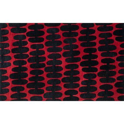 Nova Red/Black Area Rug Rug Size: Rectangle 5 x 76
