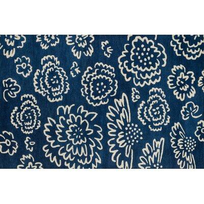 Keitt Navy/Ivory Area Rug Rug Size: Rectangle 36 x 56