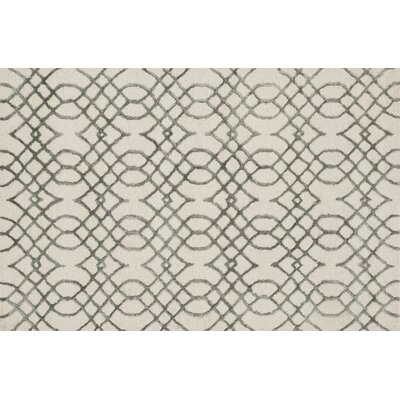 Kirkbride Ivory/Gray Area Rug Rug Size: Rectangle 7'6