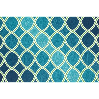 Venice Beach Blue/Green Indoor/Outdoor Area Rug Rug Size: 36 x 56