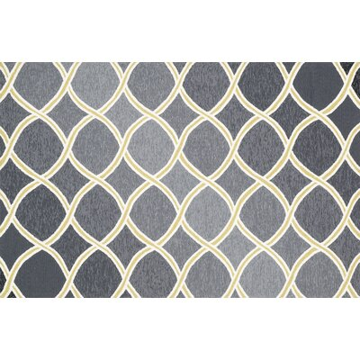Venice Beach Charcoal/Lime Area Rug Rug Size: 36 x 56