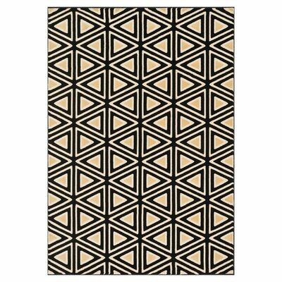 Dann Black/Beige Area Rug Rug Size: Rectangle 23 x 39