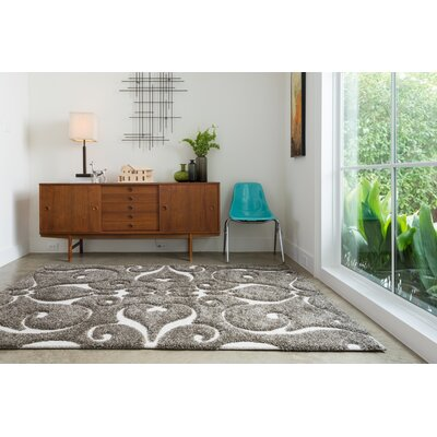 Glastonbury Gray Area Rug Rug Size: Rectangle 9 x 12