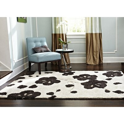 Dania Hand-Woven Ivory/Espresso Area Rug Rug Size: Rectangle 9 x 12