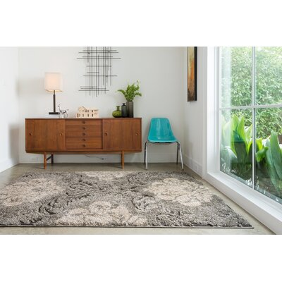 Enchant Beige/Smoke Area Rug Rug Size: Rectangle 77 x 106