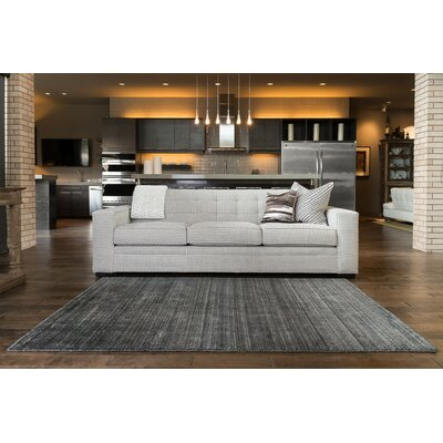 Nugent Hand-Woven Charcoal Area Rug Rug Size: Rectangle 36 x 56