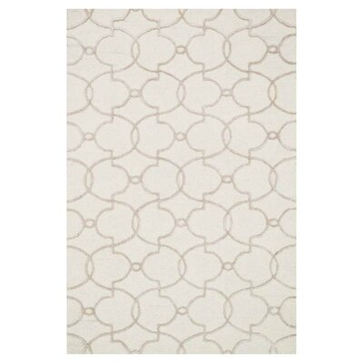 Kirkbride Ivory Area Rug Rug Size: Rectangle 36 x 56