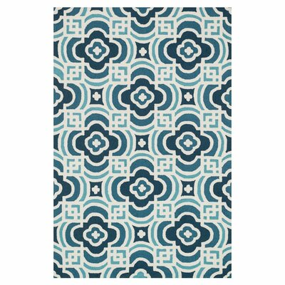 Francesca Hand-Woven Blue/Turquoise Area Rug Rug Size: 36 x 56