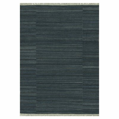 Anzio Hand-Woven Charcoal Area Rug Rug Size: Rectangle 5 x 76