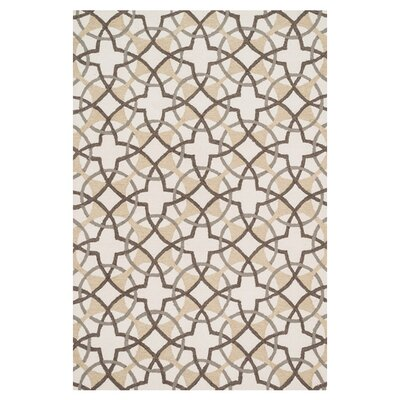 Francesca Hand-Woven Ivory/Brown Area Rug Rug Size: Rectangle 23 x 39