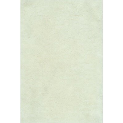 DeGennaro Hand-Tufted Ivory Area Rug Rug Size: Rectangle 36 x 56