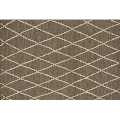 Mazur Hand-Woven Taupe Area Rug Rug Size: Rectangle 5 x 76