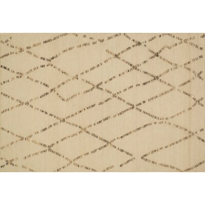 Mazur Hand-Woven White Sand Area Rug Rug Size: Rectangle 79 x 99