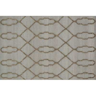 Mazur Hand-Woven Slate Area Rug Rug Size: Rectangle 36 x 56