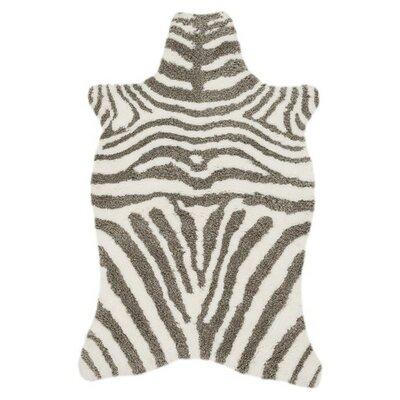Zulu Ivory/Taupe Area Rug Rug Size: 36 x 56