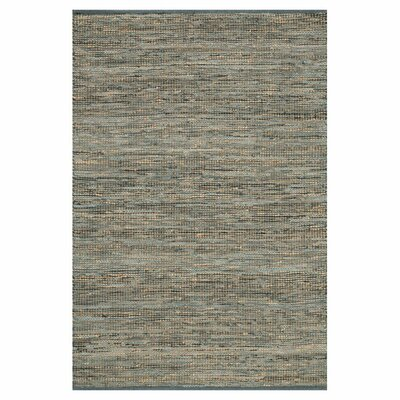 Edge Hand-Woven Gray Area Rug Rug Size: Rectangle 5 x 76
