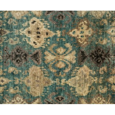 Xavier Hand-Knotted Aqua Area Rug Rug Size: Rectangle 79 x 99