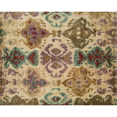 Zakrzewski Hand-Knotted Brown/Beige Area Rug Rug Size: Rectangle 2' x 3'