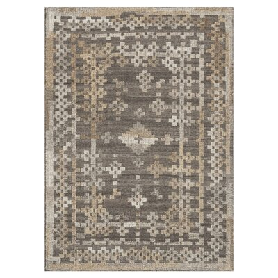 Akina Charcoal/Tan Area Rug Rug Size: Rectangle 36 x 56