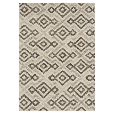 Bentleyville Ivory/Gray Area Rug Rug Size: Rectangle 36 x 56