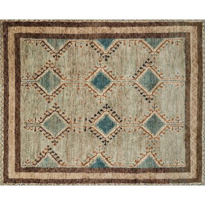 Nomad Hand-Knotted Beige Area Rug Rug Size: Rectangle 86 x 116