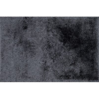 Siipola Shag Hand-Tufted Charcoal Area Rug Rug Size: Rectangle 23 x 39