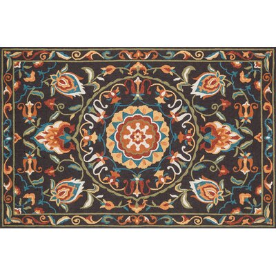 Francesca Brown/Green Area Rug Rug Size: 23 x 39