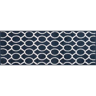 Terrace Navy/Ivory Area Rug Rug Size: 18 x 26
