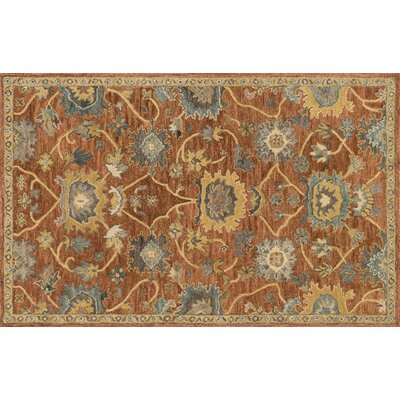 Durkee Rust/Gold Area Rug Rug Size: Rectangle 5 x 76