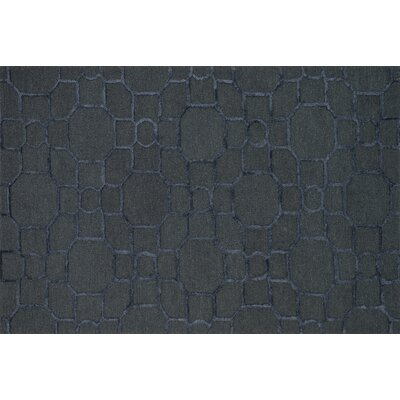 Kirkbride Charcoal/Black Area Rug Rug Size: Rectangle 23 x 39