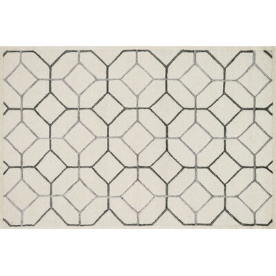 Kirkbride Ivory/Gray Area Rug Rug Size: Rectangle 36 x 56
