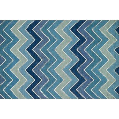 Panache Blue Area Rug Rug Size: 76 x 96