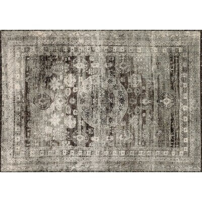 Zehner Granite/Brown/Black Area Rug Rug Size: Rectangle 37 x 57