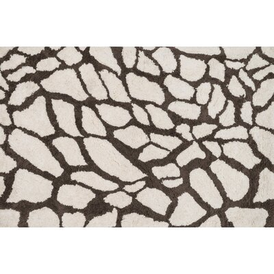 Kiara Shag Hand-Tufted Ivory/Brown Area Rug Rug Size: Rectangle 23 x 39