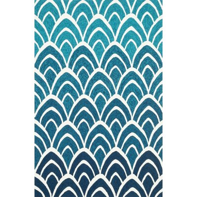 Venice Beach Blue Area Rug Rug Size: Rectangle 3'6