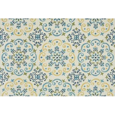 Francesca Moroccan Ivory & Light Blue Area Rug Rug Size: Rectangle 23 x 39