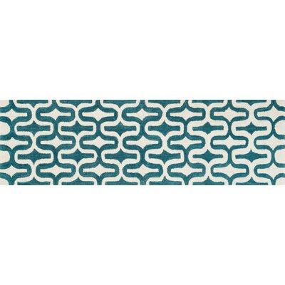 Weston Hand-Tufted Blue/Ivory Area Rug Rug Size: Runner 23 x 76